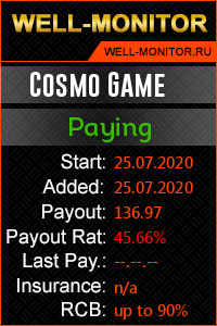 Well-Monitor.ru widget for COSMOGAME