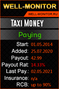 Well-Monitor.ru widget for TAXI MONEY