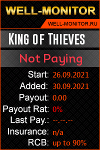 Well-Monitor.ru widget for King of Thieves