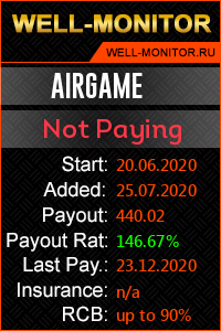 Well-Monitor.ru widget for AIRGAME