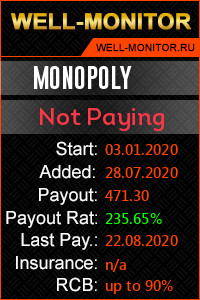 Well-Monitor.ru widget for MONOPOLY
